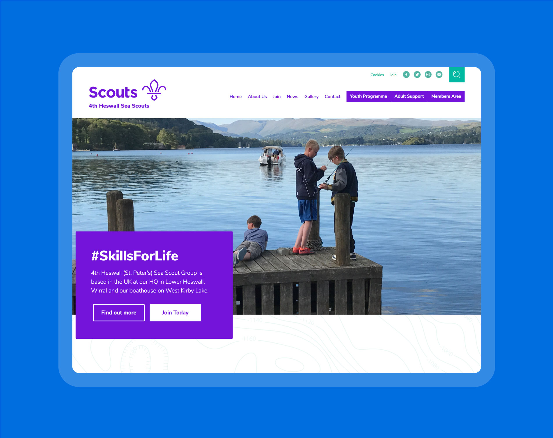 4th Heswall Sea Scouts use their website as a central hub for all of their news, events and documenting of their exciting expeditions and activities.