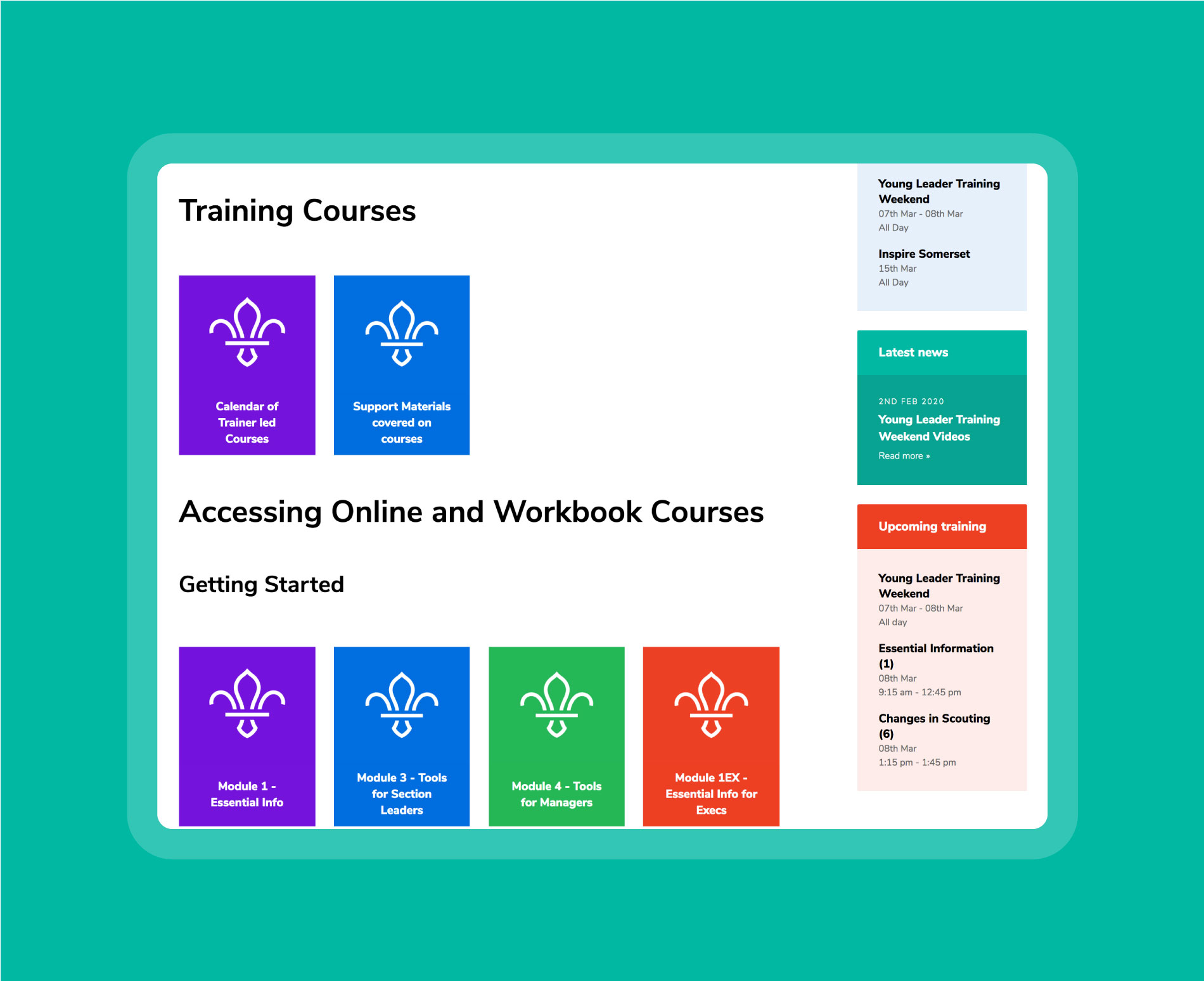 You can organise your downloadable resources, videos and other documents with our interactive elements.