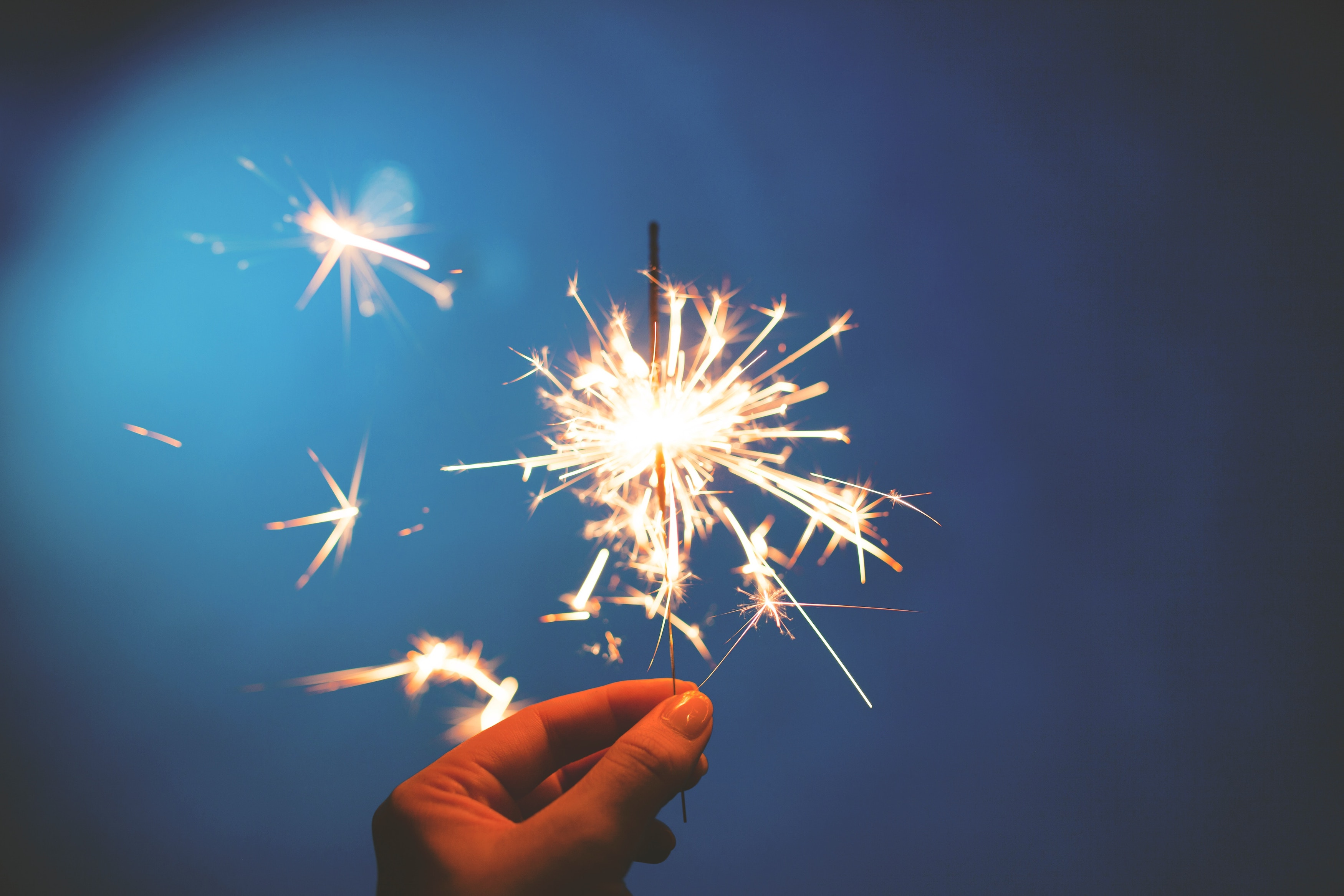 Sparklers are a fun way to experience Bonfire Night without the loud bangs but make sure to handle and dispose of them correctly!