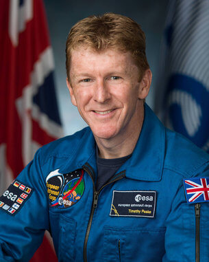 Official NASA portrait of British astronaut Timothy Peake.