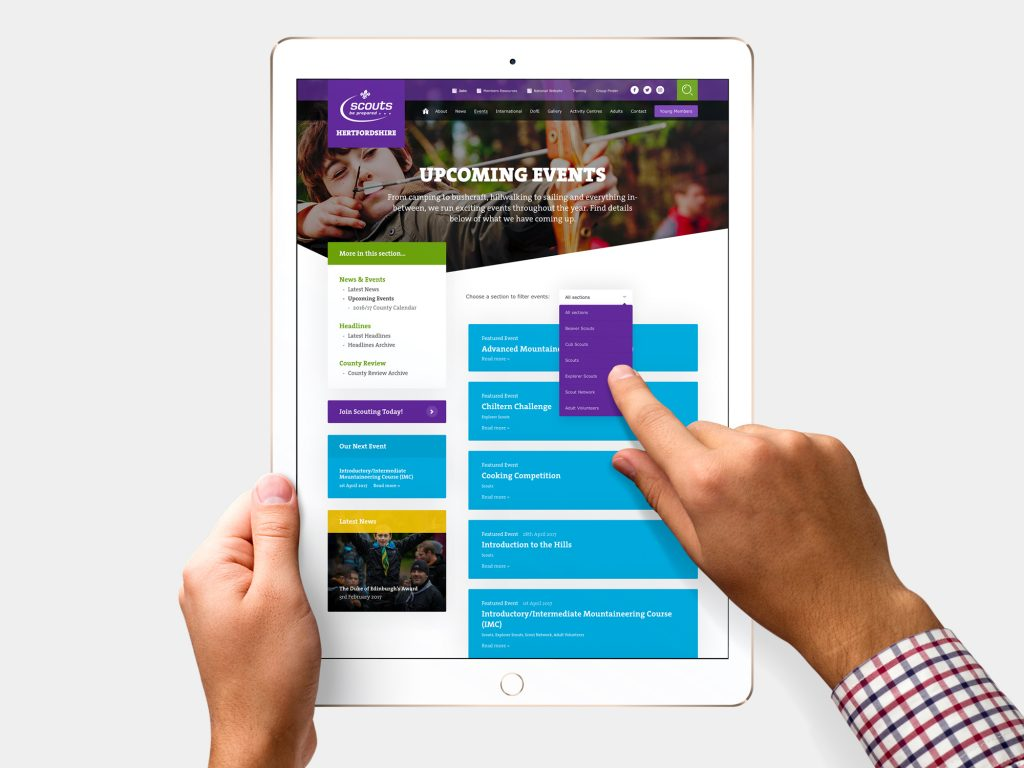A New Website For Hertfordshire Scouts! | Scout Websites
