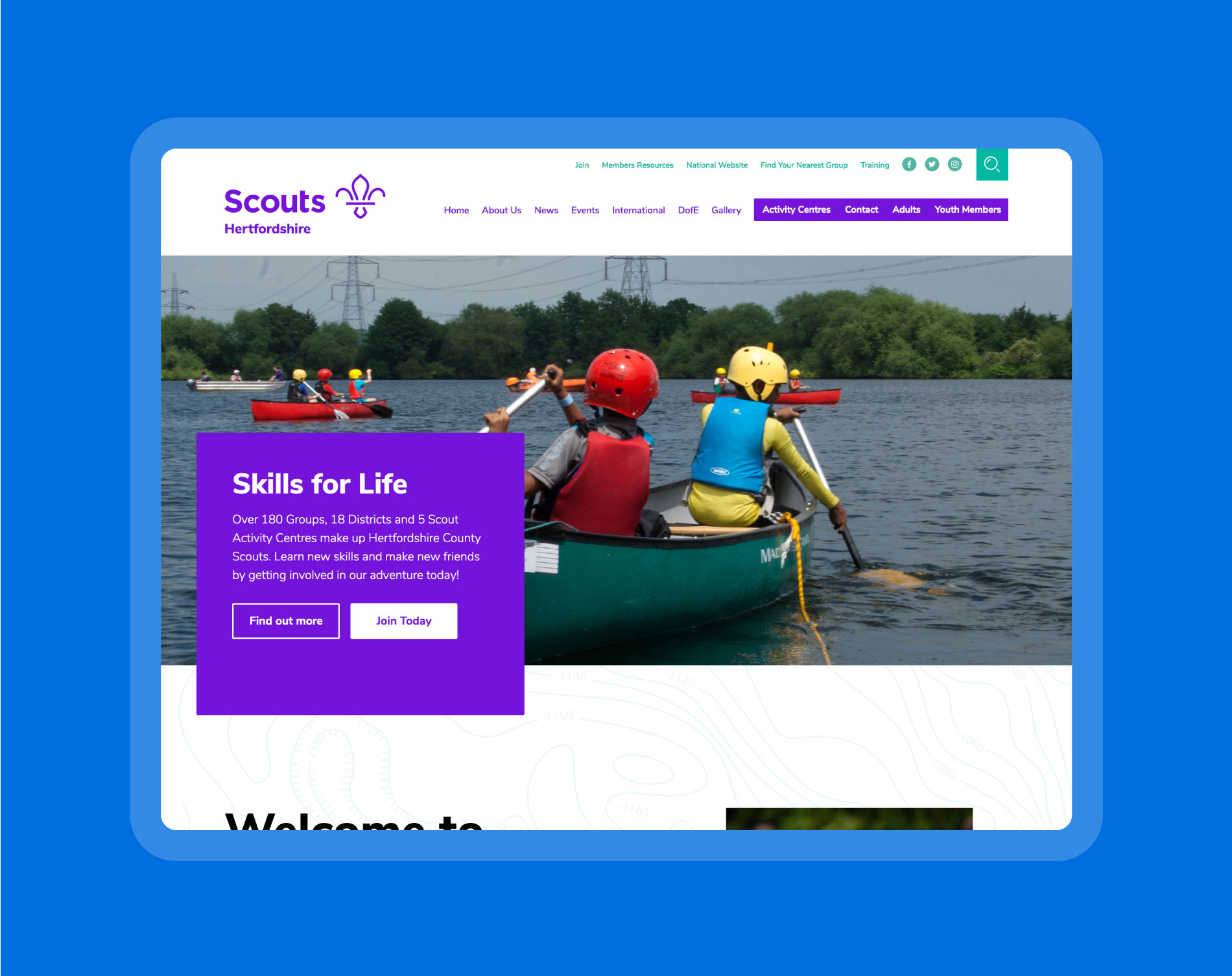 The new website takes all of Hertfordshire's favourite elements from the old version and has evolved them to look better and make it more user friendly.