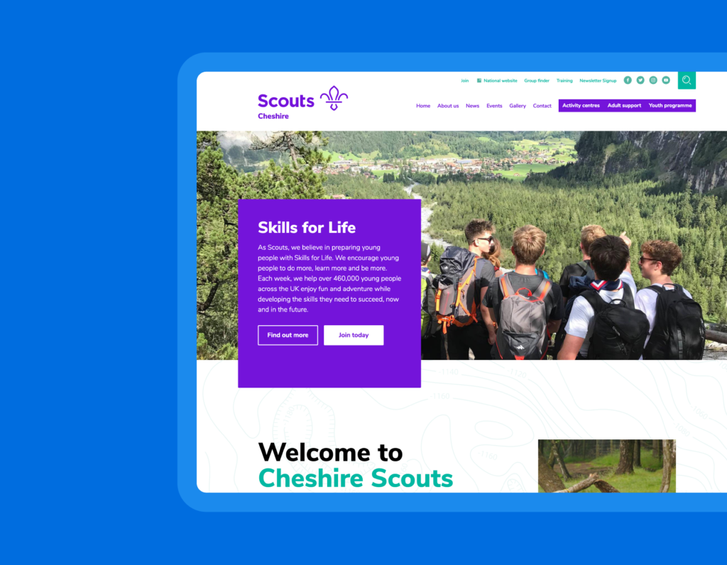 Cheshire Scouts is one of the largest Scout Counties in the UK
