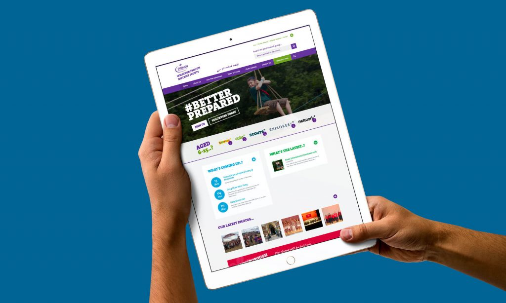 A brand new website for Wellingborough District Scouts, Northamptonshire!
